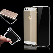 Funda Para Apple iPhone 6 iPhone 6 Plus iPhone 7 Plus iPhone 7 Transparente Funda Trasera Color sólido Suave TPU para iPhone 7 Plus