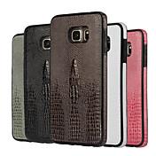 삼성 갤럭시 S6 S6 에지 S6 에지 플러스 고급 악어 곡물 디자인 PU + TPU 커버 funda (모듬 된 색상)