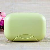 Plato de Jabón para Almacenamiento para Viaje Aseo Personal Plástico-Rosa Verde Azul