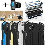 Funda Para Apple iPhone 6 iPhone 6 Plus Resistente al Agua Antipolvo Antigolpes Funda de Cuerpo Entero Armadura Dura Metal para iPhone 6s