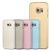 Etui Til Samsung Galaxy Samsung Galaxy S7 Edge Gjennomsiktig Bakdeksel Helfarge TPU til S7 edge plus S7 edge S7 S6 edge plus S6 edge S6 S5