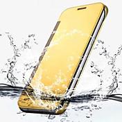 Etui Til Samsung Galaxy Samsung Galaxy S7 Edge Belegg Flipp Gjennomsiktig Heldekkende etui Helfarge PC til S7 edge S7 S6 edge plus S6