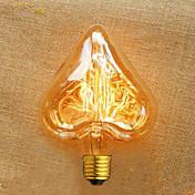 forma del corazón del alambre recto 40 w e27 220 v ampolla edison de alta calidad