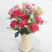 Kunstige blomster 1 Gren Europeisk Stil Orkideer / Roser Bordblomst