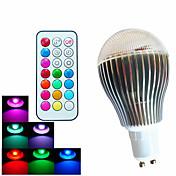 500 lm GU10 Bombillas LED de Globo A60(A19) 3 leds LED de Alta Potencia Regulable Decorativa Control Remoto RGB AC 100-240V