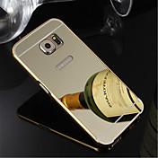 Para Samsung Galaxy S7 Edge Carcasa Funda Cromado Cubierta Trasera Funda Un Color Policarbonato para SamsungS7 edge S7 S6 edge plus S6