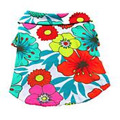 Perro Camiseta Ropa para Perro Flores / Botánica Arco iris Algodón Disfraz Para mascotas Hombre Mujer Vacaciones