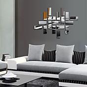 Mote fantasi 3D Veggklistremerker Veggklistremerker i Speilstil Dekorative Mur Klistermærker Bryllups klistermærker, PVC Hjem Dekor