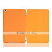Funda Para iPad Mini 4 con Soporte Activado / Apagado Automático Origami Funda de Cuerpo Entero Color sólido Cuero de PU para iPad Mini 4