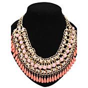 Mujer Collares Declaración Collar con perlas Perla Legierung Moda Joyería Destacada Estilo lindo Europeo joyería de disfraz Joyas Para