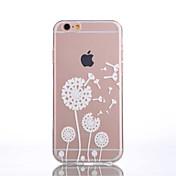 Etui Til Apple iPhone 6 iPhone 6 Plus Gjennomsiktig Mønster Bakdeksel løvetann Myk TPU til iPhone 6s Plus iPhone 6s iPhone 6 Plus iPhone 6
