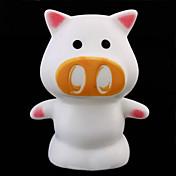 potrable de color en forma de cerdo cambiante mágico llevaron la iluminación interior de la novedad de la lámpara de luz nocturna