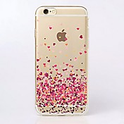 Funda Para Apple iPhone X iPhone 8 iPhone 6 iPhone 6 Plus iPhone 7 Plus iPhone 7 Ultrafina Transparente Diseños Funda Trasera Corazón