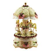 cerámica caja de música romántica creativa de color rosa para el regalo