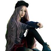 여성 인조 합성 가발 요동하는 퍼플 의상 가발 코스튬 가발