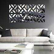 Ocio Pegatinas de pared Adhesivos de Pared Espejo Calcomanías Decorativas de Pared,PVC Material Removible Decoración hogareñaVinilos