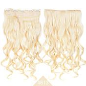 pinza de pelo cosplay de la manera en pelo sintético # 613 de color rubio rizado largo extensiones de cabello ondulado fibra de alta