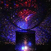 que cambian de color belleza de la estrella estrellada luz de la noche del proyector del cielo (3xAA, color al azar)