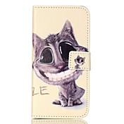 Para Samsung Galaxy S7 Edge Soporte de Coche / Cartera / con Soporte / Flip / Diseños Funda Cuerpo Entero Funda Gato Suave Cuero Sintético