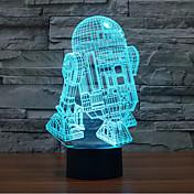 robot berøring dimming 3d led natt lys 7colorful dekorasjon atmosfære lampe nyhet belysning lys