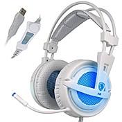 SADES A6 Sobre oreja / Cinta Con Cable Auriculares Dinámica El plastico De Videojuegos Auricular Con control de volumen / Con Micrófono /