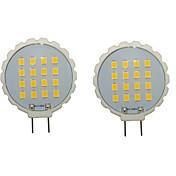 2pcs 300-350lm G8 LED-lamper med G-sokkel T 16 LED perler SMD 2835 Vanntett Dekorativ Varm hvit Kjølig hvit 110-130V 220-240V