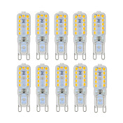 ywxlight® 6w g9 led luces bi-pin 22 smd 2835 450-550 lm blanco cálido blanco frío regulable ac 220-240 ac 110-130 v 10pcs
