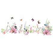Dyr Romantik Blomster Veggklistremerker Fly vægklistermærker Dekorative Mur Klistermærker, PVC Hjem Dekor Veggoverføringsbilde Vegg Glass