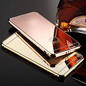 Funda Para Apple iPhone X iPhone 8 iPhone 8 Plus iPhone 6 iPhone 6 Plus Cromado Espejo Funda Trasera Color sólido Dura Metal para iPhone