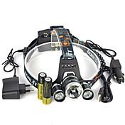 헤드램프 헤드라이트 안전 등 LED 13000 lm 1 모드 Cree XM-L T6 배터리, 충전기 포함 앵글헤드 슈퍼 라이트 자동차에 적합 캠핑/등산/동굴탐험 일상용 사이클링 사냥 등산 의 motocycle 여행 멀티기능