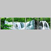 추상적인 전통적,4판넬 캔버스 수평 파노라마 인쇄 예술 벽 장식 For 홈 장식