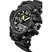 SANDA Hombre Pareja Reloj Deportivo Reloj Militar Reloj elegante Reloj de Moda Reloj de Pulsera Digital Cuarzo Japonés Cronógrafo
