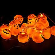16-pakning / Sett halloween gresskar rekvisitter dekorasjon gresskar lampe halloween fest dekorasjon en streng gresskar lys sprø fest