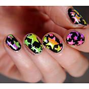 5pcs Diecut Manicure Stencil Plantilla de estampado de uñas Diario Glitters Moda Alta calidad
