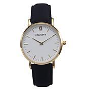 CAGARNY Mujer Reloj de Pulsera Reloj de Moda Cuarzo / Reloj Casual Piel Banda Vintage Minimalista Cool Negro Rojo Marrón