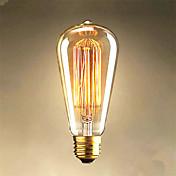 40w edison ST64 bombillas alambre recto a la venta Edison decoración arte de la luz