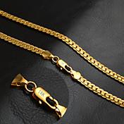 Hombre Mujer Collares de cadena Forma de Círculo Oro 18K de oro Moda Clásico Personalizado Joyas Para Boda Fiesta Diario Casual Deportes