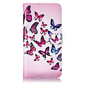 Etui Til Apple iPhone 7 / iPhone 7 Plus / iPhone 6 Lommebok / Kortholder / med stativ Heldekkende etui Sommerfugl Hard PU Leather til iPhone 7 Plus / iPhone 7 / iPhone 6s Plus