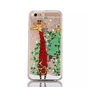 Para Funda iPhone 7 Funda iPhone 6 Funda iPhone 5 Carcasa Funda Líquido Traslúcido Diseños Cubierta Trasera Funda Navidad Dura