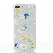용 아이폰7케이스 / 아이폰7플러스 케이스 / 아이폰6케이스 패턴 케이스 뒷면 커버 케이스 꽃장식 소프트 TPU Apple 아이폰 7 플러스 / 아이폰 (7) / iPhone 6s Plus/6 Plus / iPhone 6s/6