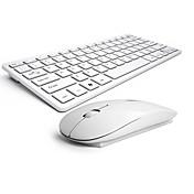 teclado inalámbrico del ratón peine silenciosa ningún ratón chocolate claro y teclado ergonómico b.o.w hw098
