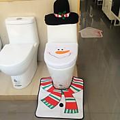 품질 플란넬 시트 커버& 러그 발 패드 물 탱크 설정 수건 커버 욕실 자체 산타 클로스 크리스마스 장식