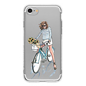 Funda Para Apple iPhone 6 iPhone 7 Plus iPhone 7 Diseños Funda Trasera Chica Sexy Suave TPU para iPhone 7 Plus iPhone 7 iPhone 6s Plus