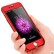 제품 iPhone 8 iPhone 8 Plus iPhone 7 iPhone 7 Plus 케이스 커버 방진 충격방지 풀 바디 케이스 한 색상 하드 PC 용 Apple iPhone 8 Plus iPhone 8 아이폰 7 플러스 아이폰 (7)