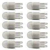 10pcs 500lm G9 LED-lamper med G-sokkel T 1 LED perler COB Mulighet for demping Varm hvit Kjølig hvit 220-240V