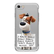 Etui Til Apple iPhone 7 / iPhone 6 / Etui iPhone 5 Ultratynn / Gjennomsiktig / Mønster Bakdeksel Hund Myk TPU til iPhone 7 Plus / iPhone 7 / iPhone 6s Plus