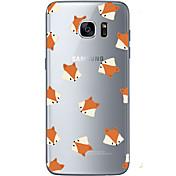 Funda Para Samsung Galaxy S7 edge S7 Ultrafina Transparente Diseños Cubierta Trasera Animal Suave TPU para S7 edge S7 S6 edge plus S6