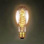 e27 40w c75 alrededor de los centros comerciales de restaurantes de seda edison lámpara retro decorativa antigua