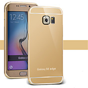 Funda Para Samsung Galaxy Funda Samsung Galaxy Cromado Espejo Funda Trasera Color sólido ordenador personal para S7 edge S7 S6 edge plus