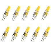 10pcs 1.5W 200-250 lm G4 Bombillas LED de Mazorca T COB leds COB Decorativa Blanco Cálido Blanco Fresco AC 12V